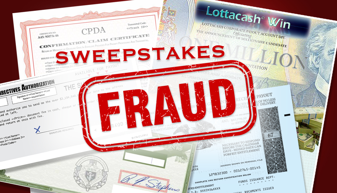 Sweepstakes Fraud Mail Graphic
